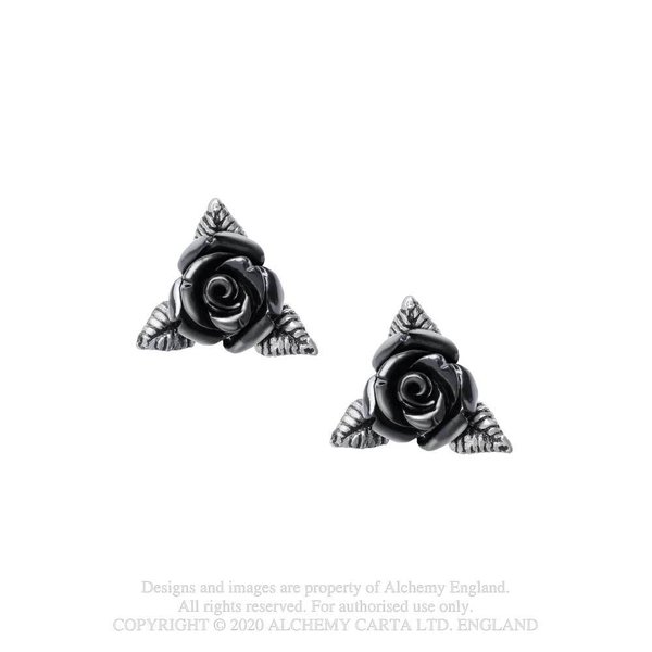 Pewter Earring : Ring O' Roses Studs