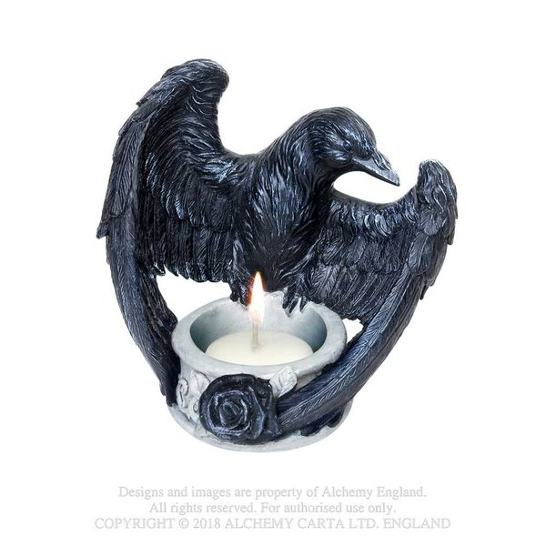 Alchemy: Poly Resin: Raven's Ward T-light holder